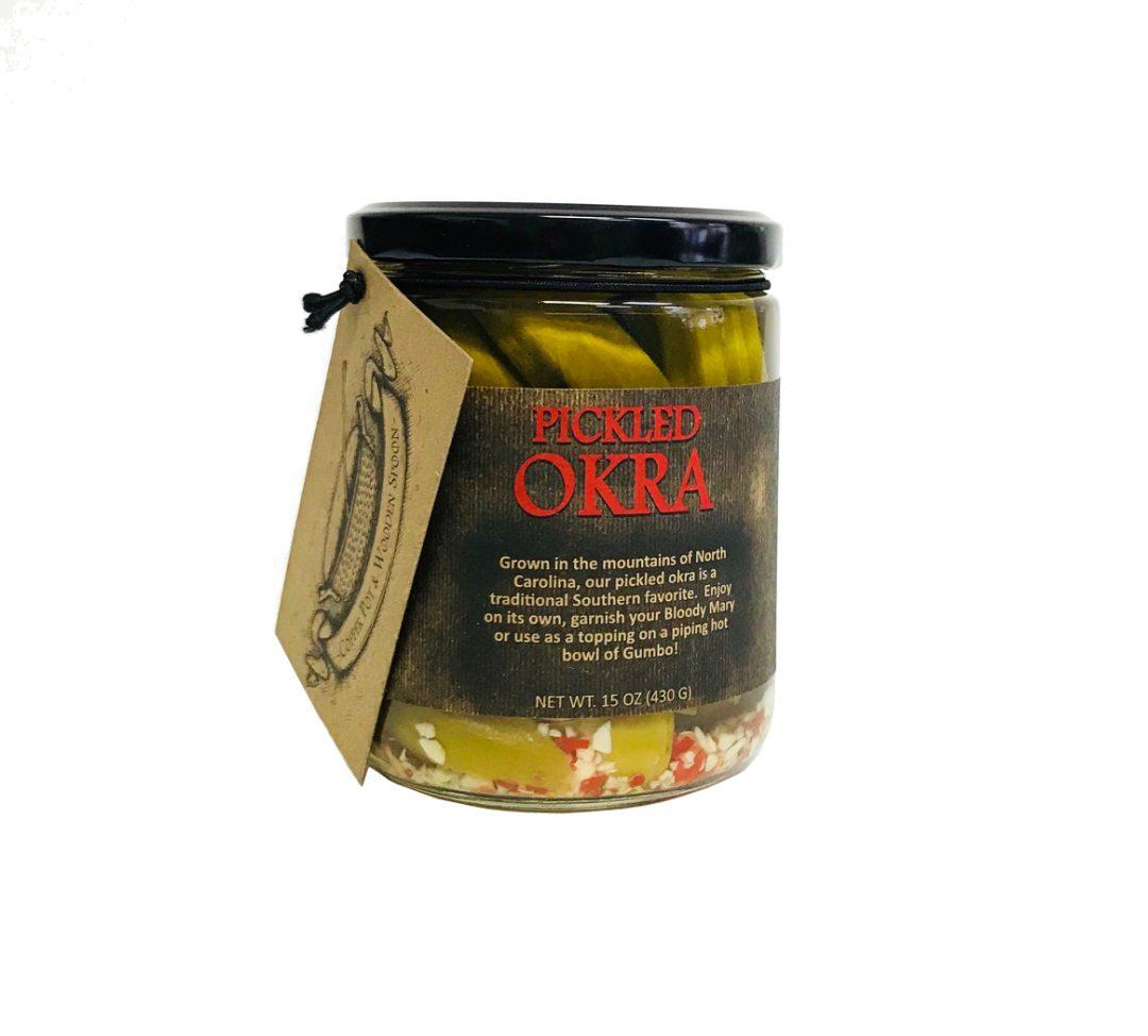 Copper Pot & Wooden Spoon Pickled Okra