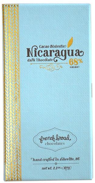French Broad Chocolate 68% Nicaragua Dark Cacao Bar