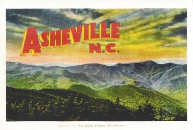 Asheville in the Blue Ridge Mountains Postcard