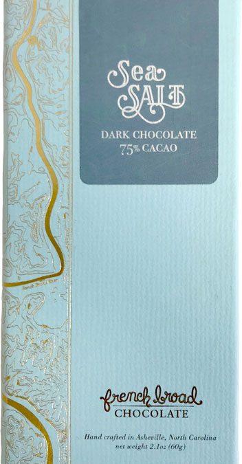 French Broad Chocolate 75% Dark Cacao Sea Salt Bar