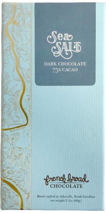 French Broad Chocolate 75% Cacao Sea Salt Bar