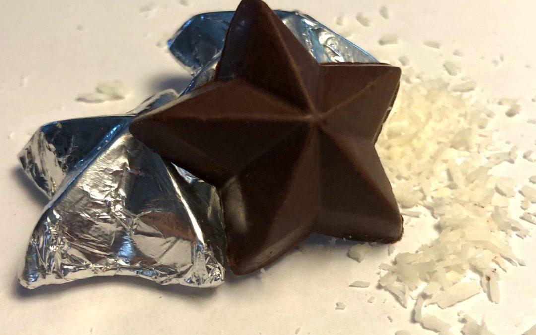 Silvermoon Chocolate Coconut Milk Chocolate Stars
