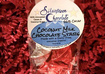 Silvermoon Chocolate Coconut Milk Chocolate Stars (holiday edition)